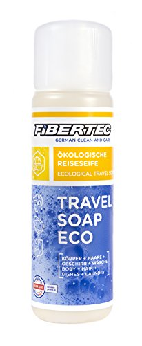 Fibertec Travel Soap Eco Jabón de viaje transparente, 250 ml