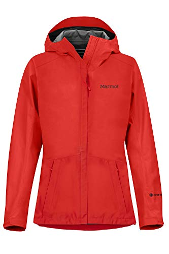 Marmot Wm's Minimalist Jacket Chubasquero Rígido, Chaqueta Impermeable, A Prueba De Viento, Impermeable, Transpirable, Mujer, Victory Red, XS