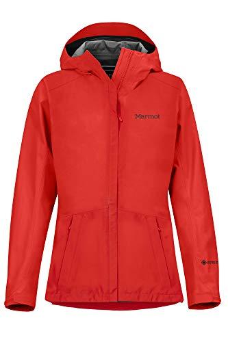 Marmot Wm's Minimalist Jacket Chubasquero Rígido, Chaqueta Impermeable, A Prueba De Viento, Impermeable, Transpirable, Mujer, Victory Red, XS