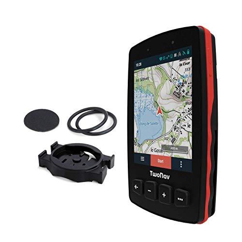 TwoNav - GPS Trail 2 Bike - Bicicleta Cicloturismo MTB / 4 Botones Frontales/Pantalla 3.7' / Autonomía 20 h/Memoria 32 GB/Tarjeta SIM/Mapa topográfico Incluido