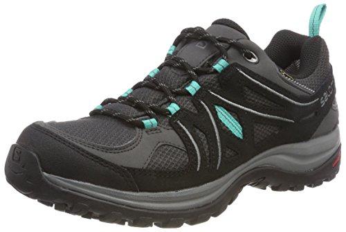 Salomon Ellipse 2 GTX W, Zapatillas de Trail Running Mujer, Gris/Turquesa (Magnet/Black/Atlantis), 39 1/3 EU