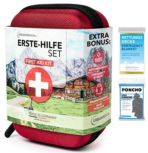Botiquín de primeros auxilios Premium de Alemania.   Urban Medical®   DIN 13167 l Para acampar, para hacer deporte, para viajar, para la bicicleta o para la casa.